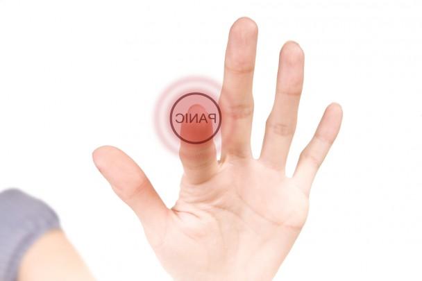 Panic hi-tech red button