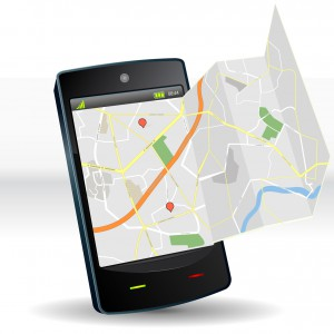 Street Map On Smartphone Mobile Device