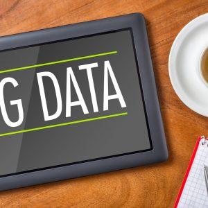 Tablet on a desk - Big Data